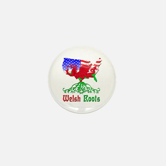 American Welsh Roots Mini Button