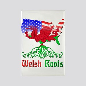 American Welsh Roots Rectangle Magnet