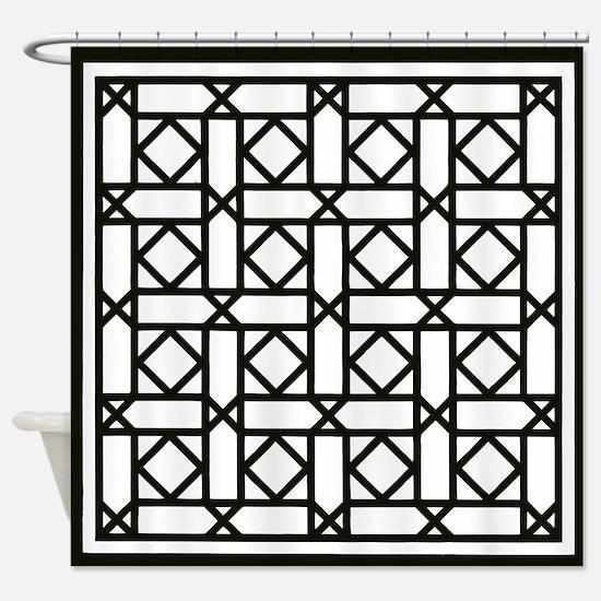 Lattice #2 Shower Curtain
