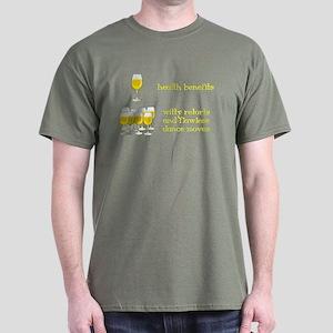 One Glass Wine Health Benefits Dark T-Shirt