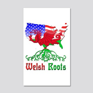 American Welsh Roots 20x12 Wall Decal