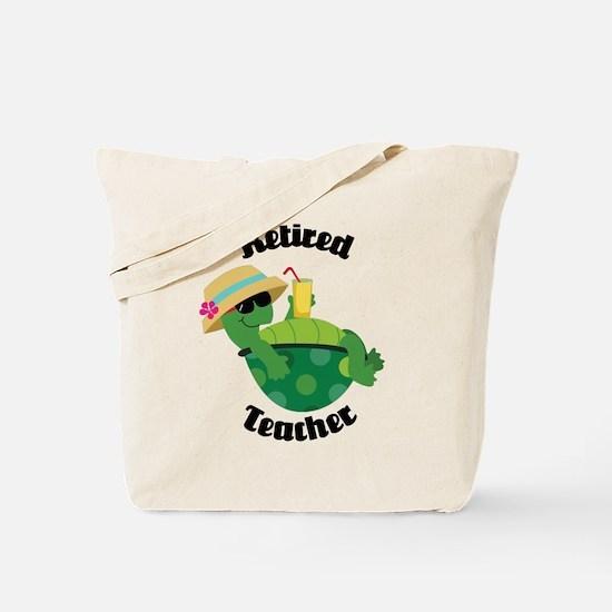 Retired Teacher Turtle Tote Bag