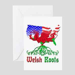 American Welsh Roots Greeting Card