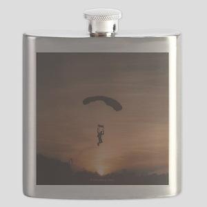 Sunset Skydiver Flask