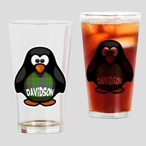 Davidson Tartan Penguin Drinking Glass