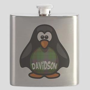 Davidson Tartan Penguin Flask