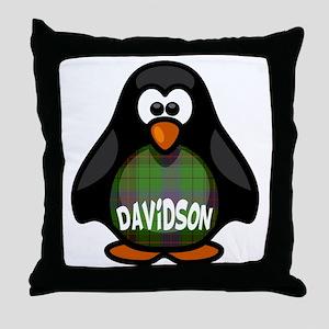 Davidson Tartan Penguin Throw Pillow