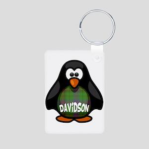 Davidson Tartan Penguin Aluminum Photo Keychain
