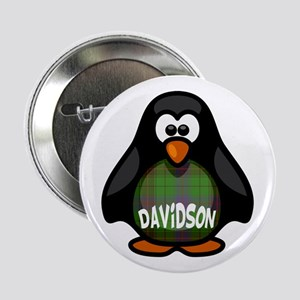 "Davidson Tartan Penguin 2.25"" Button"