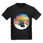 XMusic2-Black Cocker Kids Dark T-Shirt