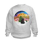 XMusic2-Black Cocker Kids Sweatshirt