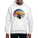 XMusic2-Black Cocker Hooded Sweatshirt