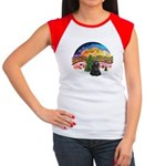 XMusic2-Black Cocker Women's Cap Sleeve T-Shirt