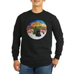 XMusic2-Black Cocker Long Sleeve Dark T-Shirt