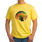 XMusic2-Black Cocker Yellow T-Shirt
