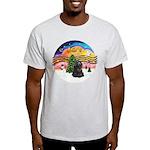 XMusic2-Black Cocker Light T-Shirt