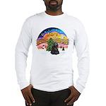 XMusic2-Black Cocker Long Sleeve T-Shirt