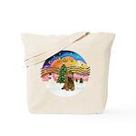 XMusic2-Brown Cocker Tote Bag