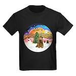 XMusic2-Brown Cocker Kids Dark T-Shirt