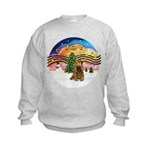 XMusic2-Brown Cocker Kids Sweatshirt