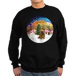XMusic2-Brown Cocker Sweatshirt (dark)