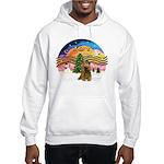 XMusic2-Brown Cocker Hooded Sweatshirt