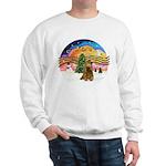 XMusic2-Brown Cocker Sweatshirt