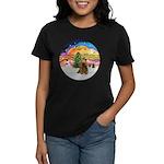 XMusic2-Brown Cocker Women's Dark T-Shirt