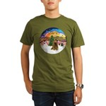 XMusic2-Brown Cocker Organic Men's T-Shirt (dark)