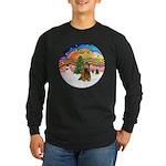 XMusic2-Brown Cocker Long Sleeve Dark T-Shirt