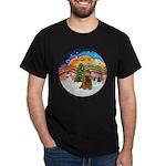 XMusic2-Brown Cocker Dark T-Shirt