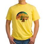 XMusic2-Brown Cocker Yellow T-Shirt