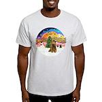 XMusic2-Brown Cocker Light T-Shirt