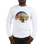 XMusic2-Brown Cocker Long Sleeve T-Shirt