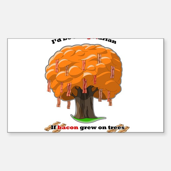Bacon tree Sticker (Rectangle)