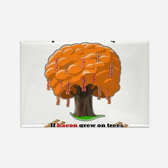 Bacon tree Rectangle Magnet