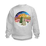 XMusic2-Buff Cocker Kids Sweatshirt