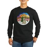 XMusic2-Buff Cocker Long Sleeve Dark T-Shirt