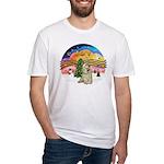 XMusic2-Buff Cocker Fitted T-Shirt