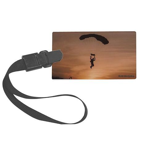 Sunset Skydiver Large Luggage Tag