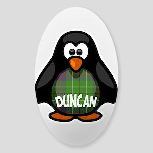 Duncan Tartan Penguin Sticker (Oval)