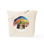 XMusic2-Three Cocker Spaniels Tote Bag