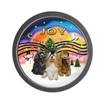 XMusic2-Three Cocker Spaniels Wall Clock