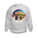 XMusic2-Three Cocker Spaniels Kids Sweatshirt
