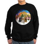 XMusic2-Three Cocker Spaniels Sweatshirt (dark)