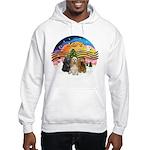 XMusic2-Three Cocker Spaniels Hooded Sweatshirt