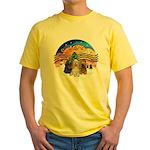 XMusic2-Three Cocker Spaniels Yellow T-Shirt