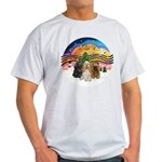 XMusic2-Three Cocker Spaniels Light T-Shirt