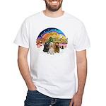 XMusic2-Three Cocker Spaniels White T-Shirt