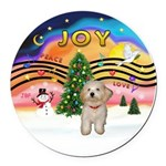 XMusic2-Havanese Pup Round Car Magnet